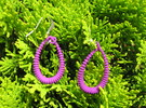 Spine 5 Earrings in Purple Strong & Flexible Polished