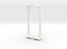 Bachmann frame adapter in White Strong & Flexible Polished