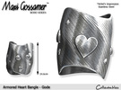 Armored Heart Bangle - Gode in Stainless Steel