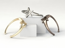 UpStar Bracelet (Size M) in Polished Bronze Steel