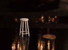 """1:24 30"""" Simple Stool in White Strong & Flexible"""