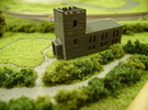 Country Church (T Gauge) in Black Acrylic