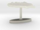 Romania Terrain Cufflink - Flat in Transparent Acrylic