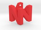 Nintendo Logo Pendant in Red Strong & Flexible Polished