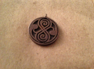 Rassilon pendant in Raw Silver