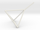 Wire Model for Soap: Tetrahedron in White Strong & Flexible