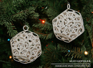 Dodecahedron Ornament 2 in White Strong & Flexible