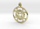 Kallichore pendant in 18K Gold Plated