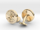 Ripple Cufflinks (pair) in 14k Gold Plated