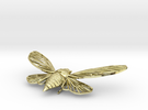 Gold-Plated Brass Cicada in 18K Gold Plated
