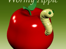 Wormy Apple in Full Color Sandstone