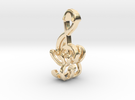 """Treble Electric Guitar"" Perspective Pendant in 14K Gold"