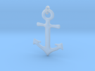 Anchor Necklace in Frosted Ultra Detail