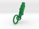 JCAD Keychain  in Green Strong & Flexible Polished