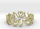 """We Love you"" Ring in 18k Gold Plated"