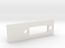 A1200 Rear Expansion DVI Plate MK2 in White Strong & Flexible