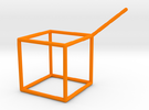 Wire Model for Soap: Cube in Orange Strong & Flexible Polished