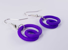 Infinite loop earring in White Strong & Flexible