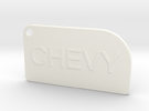 Chevy key chain in White Strong & Flexible Polished