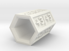 Polygon Game Counter +1 to +6 in White Strong & Flexible