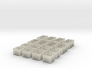 16 Crates for 6mm, 1/300 or 1/285 in Transparent Acrylic
