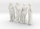 classic female statue 4 views in White Strong & Flexible
