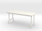1:24 Scale Folding Table in White Strong & Flexible