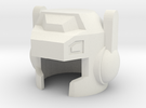 Robohelmet: Shoots-a-lot v2 in White Strong & Flexible