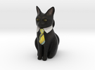 Business Cat in Full Color Sandstone