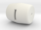 Knob 4 in White Strong & Flexible