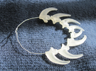 Neandertal Eagle Talon bracelet or necklace in Frosted Ultra Detail