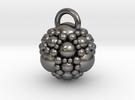 Fractal sphere pendant in Polished Nickel Steel
