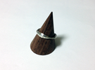 Scaling effect ring in Raw Silver