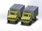 2x MB Unimog U1300 1:144 in Frosted Ultra Detail