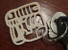 Your name Mayan keychain in Polished Metallic Plastic