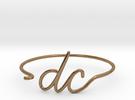 DC Wire Bracelet (Washington, D.C.) in Raw Brass