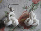 Coil 3 1 Of Curves Earrings in White Strong & Flexible