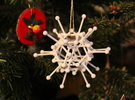 Diamond: Christmas Ornament in White Strong & Flexible