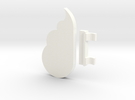 Cloud Keychain Holder in White Strong & Flexible Polished