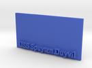 Base for 1/600 USS Spuyten Duyvil in Blue Strong & Flexible Polished
