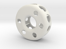 Hollow wheel in White Strong & Flexible