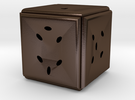 Dice164 in Polished Bronze Steel