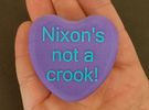 "Candy Heart ""Nixon's not a crook!"" - Purple/Blue in Full Color Sandstone"