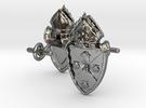 Heraldic Cufflinks [Rockville Diocese] in Premium Silver