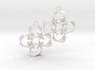 EARRINGS_Hyperloop earrings, flexible, PAIR in White Strong & Flexible