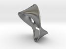 Trefoil Knot Earring in Raw Silver