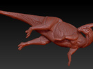 1/40 Parasaurolophus - Dust Bath in White Strong & Flexible