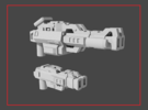 """""""LOCKOUT"""" Transformers Weapons Set (5mm post) in White Strong & Flexible"""