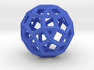 Rhombicosidodecahedron(Leonardo-style model) in Blue Strong & Flexible Polished