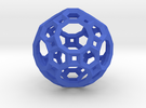 Truncated Icosidodecahedron(Leonardo-style model) in Blue Strong & Flexible Polished